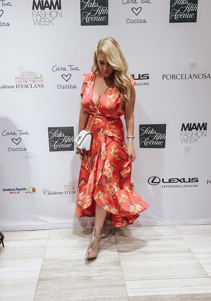 "Fashion Blogger Joy Jolise attending the ""kick off "" party for MIAFW at Saks Fifth Ave Brickell."