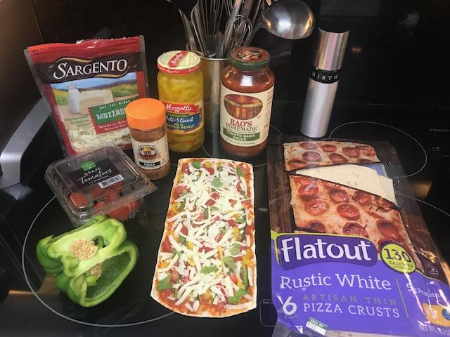Here are some ingredients to make a quick and easy homemade pizza