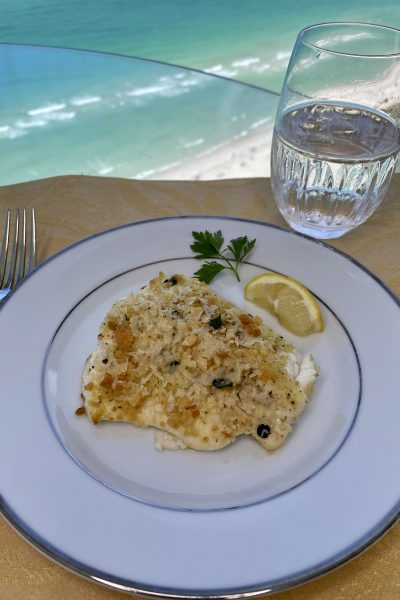 parmesan crusted halibut fish recipe